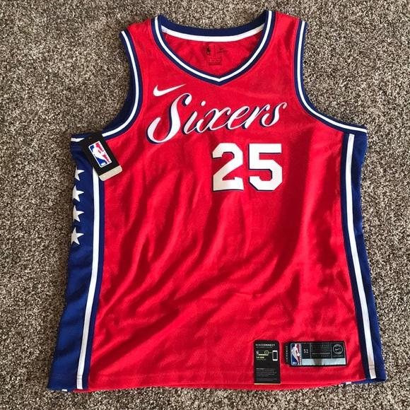 ede487de0b9 Philadelphia 76ers Ben Simmons Statement Jersey